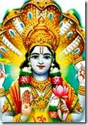 Lord Vishnu with Ananta Shesha Naga
