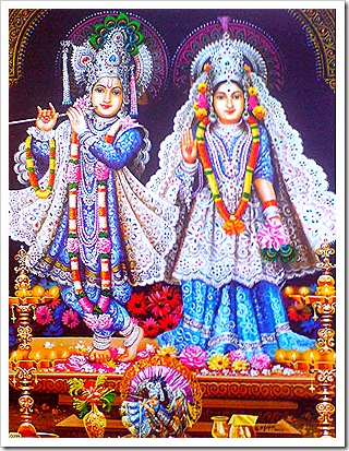 Deity worship of Radha and Krishna