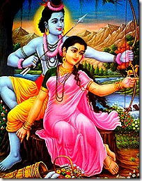 Sita and Rama in the forest
