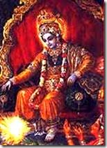 Krishna as the king of Dvaraka
