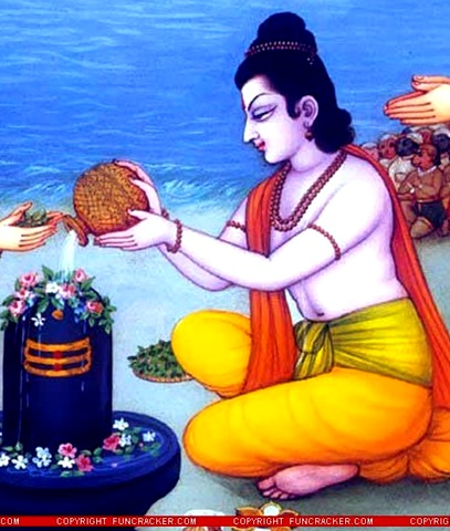 Lovely New Famous Lord Rama Pooja of Shiva Pictures for free download