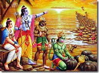 Rama and Lakshmana with the Vanaras