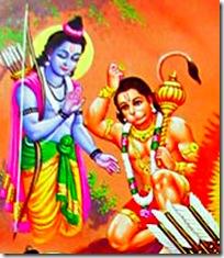 Hanuman meeting Rama
