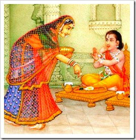 Mother feeding Lord Rama