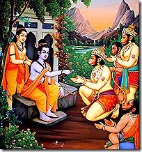 Rama's alliance with the Vanaras