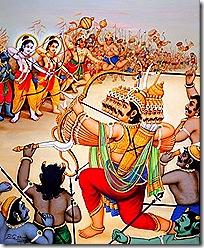Battle between Rama and Ravana