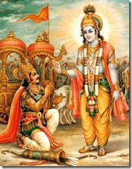 Lord Krishna speaking to Arjuna