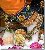 Lord Krishna's lotus feet