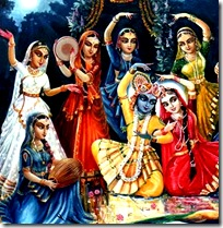 Gopis with Radha and Krishna