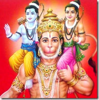 Lakshmana and Rama with Hanuman