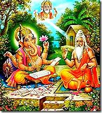 Vyasadeva with Ganesha