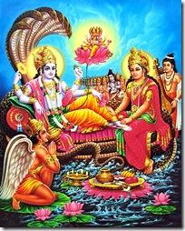 Lord Vishnu in Vaikuntha