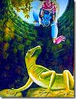 Krishna rescuing King Nriga