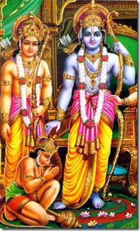 Rama, Lakshmana, and Hanuman