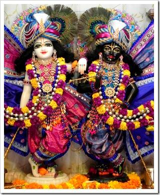 Krishna and Balarama deities