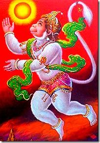 Hanuman heading towards the sun