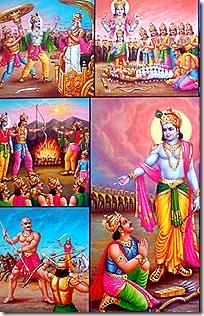 Krishna and the Pandavas