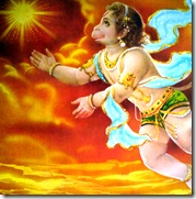 Hanuman reaching for the sun