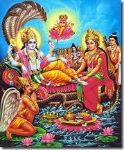 Worshiping Lord Vishnu