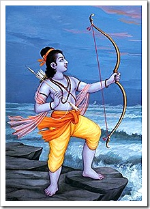 Lord Rama with His bow