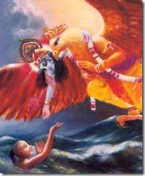 Krishna rescuing the fallen soul