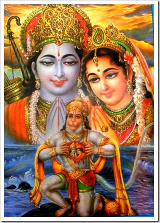 Hanuman thinking of Sita and Rama