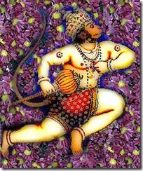 Hanuman flying