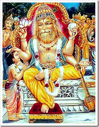 Prahlada with his beloved Lord