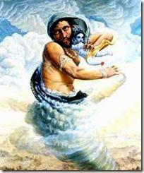 Krishna and the Trinavarta demon