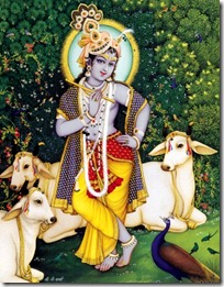 Krishna with cows