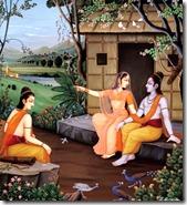Rama, Sita and Lakshmana in Panchavati