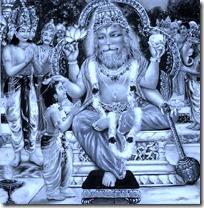 Prahlada with Narasimhadeva