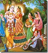 Radha, Krishna with the gopis