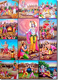 scenes from the Mahabharata