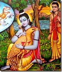 Lakshmana and Rama with Jatayu