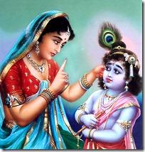Mother Yashoda with Lord Krishna