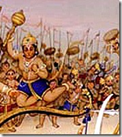 Vanaras fighting for Rama