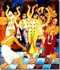 Lord Chaitanya's sankirtana party