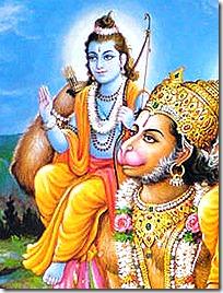 Hanuman with Lord Rama