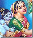 Mother Yashoda and Krishna