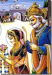 Janaka and Sita