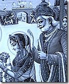 Janaka with Sita