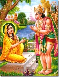 Hanuman with Sita
