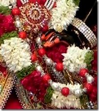 Flower garland offered to Krishna