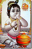 Lord Krishna eating butter