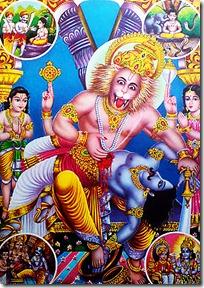Narasimhadeva saving Prahlada