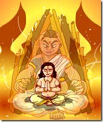 Prahlada with Holika