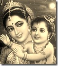 Lord Rama with Queen Kausalya