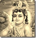 Krishna eating butter