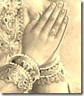 Hanuman praying